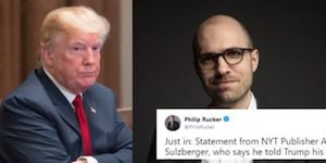 Trump and Sulzberger